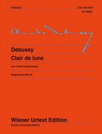 Debussy: Clair de Lune for Piano published by Wiener Urtext